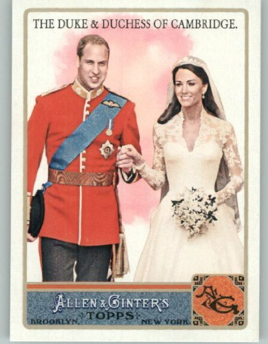Finish Pack Fan (2011 Topps Allen & Ginter Salutes Limited Edition Salutes Glossy Baseball Card # AGS9 Duke And Duchess of Cambridge / The Royal Wedding (High Gloss Finish - Limited Edition - Serial #d to 999)(Prince William / Kate Middleton)(Serial #d to 999))