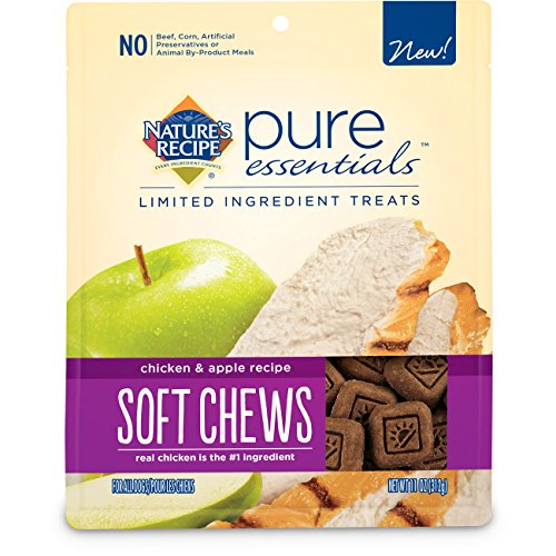 Nature's Recipe Pure Essentials Soft Chews Chicken and Apple Dog Treats, 11-Ounce