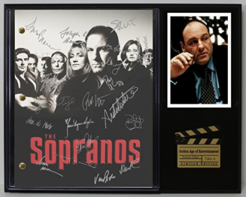 "THE SOPRANOS LTD EDITION REPRODUCTION SIGNED TELEVISION SCRIPT DISPLAY""C3"""