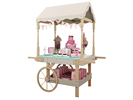 Dunster House Candy Cart Sweet Stall Wedding Favors Stand Celebrations Birthday Party Buffet Portobello Static Candy Cart