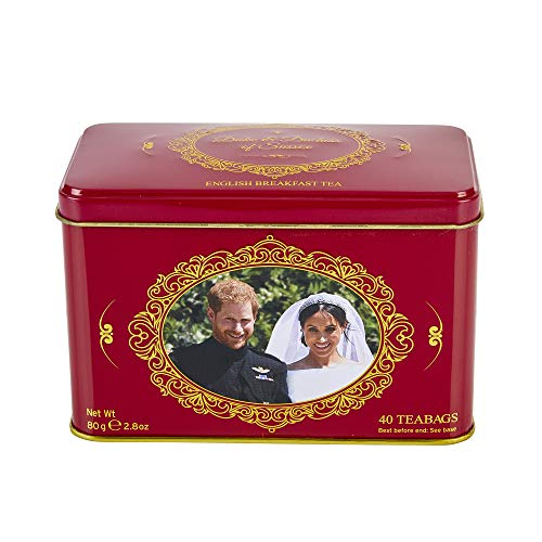 - New English Teas Prince Harry & Meghan Markle Commemorative Tin 40 Teabags