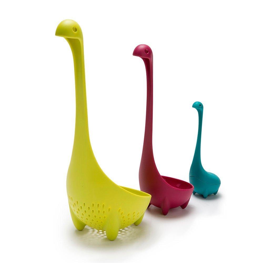ShopAIS 3Pcs Nessie Family Collander/Strainer Spoon, Ladle Spoon, And Tea Infuser
