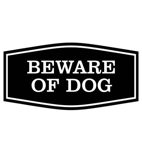 Amazon.com: Fancy Beware of Dog Sign - Cartel de perro ...