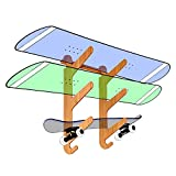 Bamboo Snowboard Wall Mount for 3 Snowboards or Longboards - Grassracks Moloka'i Trip