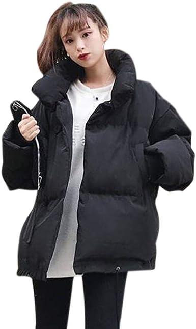 HOHOFAN - Chaqueta de algodón con Cuello Corto para Mujer: Amazon ...