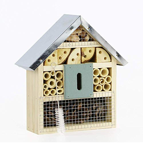 Niteangel Natural Wooden Insect Hotel Bee Bug House/Hotel (Blue)