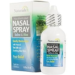 Naturade Nasal Spray, Saline and Aloe, 1.5 Ounce Spray Bottles