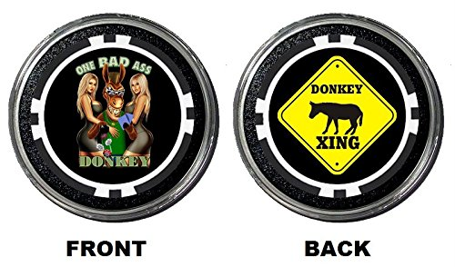 Funny Poker Card Guard/Protector HOLDEM POKER PLAYING CARD COVER Gambling Coin (Bad Ass Donkey)