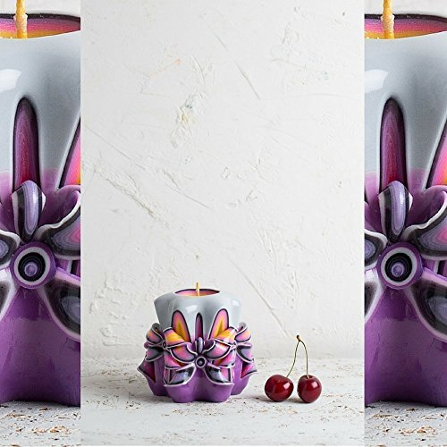 Baby gift ideas, Purple Decorative Carved candle, Christmas gift ideas for kids, (Mikasa Calla Lily)
