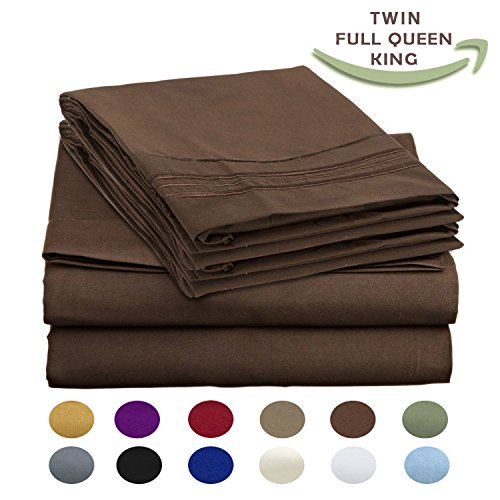 Egyptian Comfort Wrinkle CHOCOLATE Pillowcases