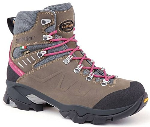 Zamberlan Women's 982 QUAZAR GTX WNS Dark Brown-Pink Leather Backpacking Boots size 38 / 6H by Zamberlan