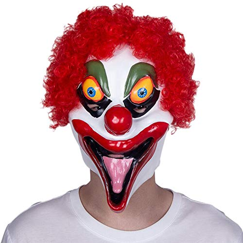 Nuoka Halloween Costume Scary Cosplay Latex Mask Horror Pennywise Clown Mask (Style ()