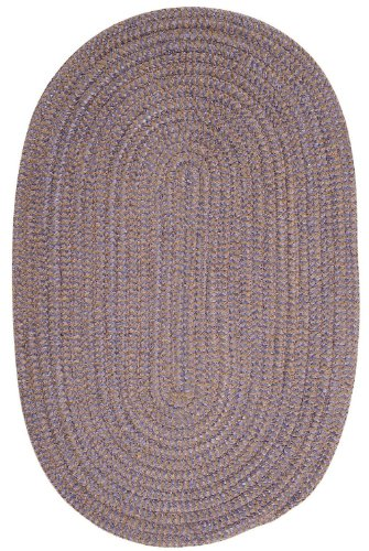 Braided 5'x8' Oval Area Rug in Lavender color from Fleecy Collection