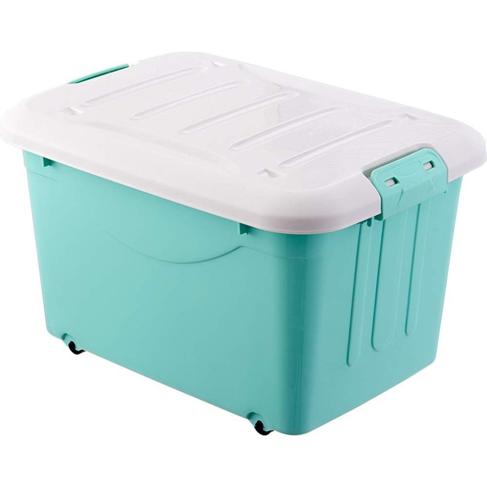 Green 40L1 ZHANGQIANG Storage Basket Laundry Basket Large Storage Bins Organizer with Handle, Collapsible Cube Basket Container Box for Closet (color   Green, Size   40L1)