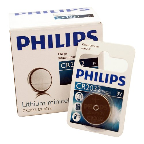 philips lithium button cell battery 3v cr2032 dl2032 10. Black Bedroom Furniture Sets. Home Design Ideas