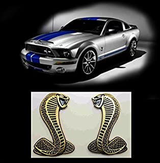 Garage-SixtySix K/ühlergrillemblem Snake Silber Schwarz