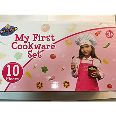 Kitchen Playset Pots And Pans With Utensils -9Pc: Toys & Games