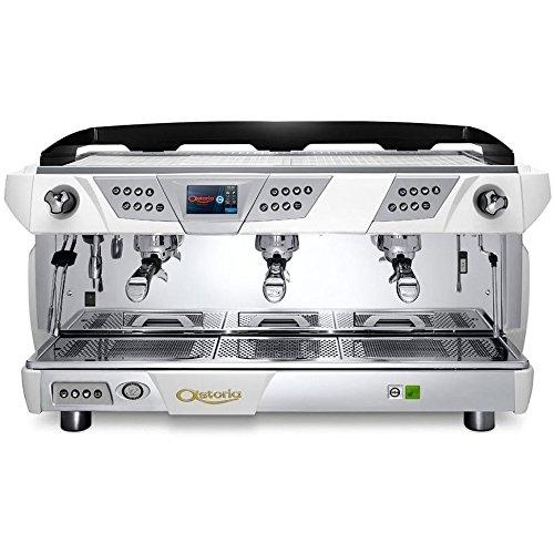 Coffee Chrome Makers Espresso Automatic (Astoria Plus 4 You Automatic 3 Group Espresso Machine SAE White/Chrome)