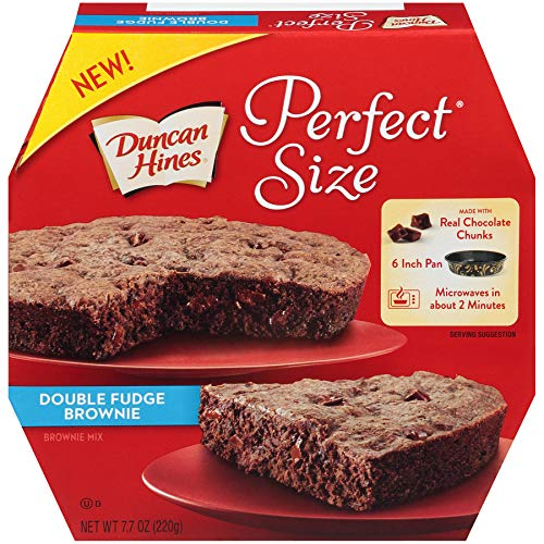 Chocolate Chunk Brownie - Duncan Hines Perfect Size, Double Fudge Brownie Mix, 7.7 Ounce