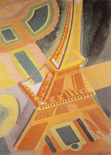 (Buyartforless Eiffel Tower by Robert Delaunay 36x24 Art Print Poster France Abstract)