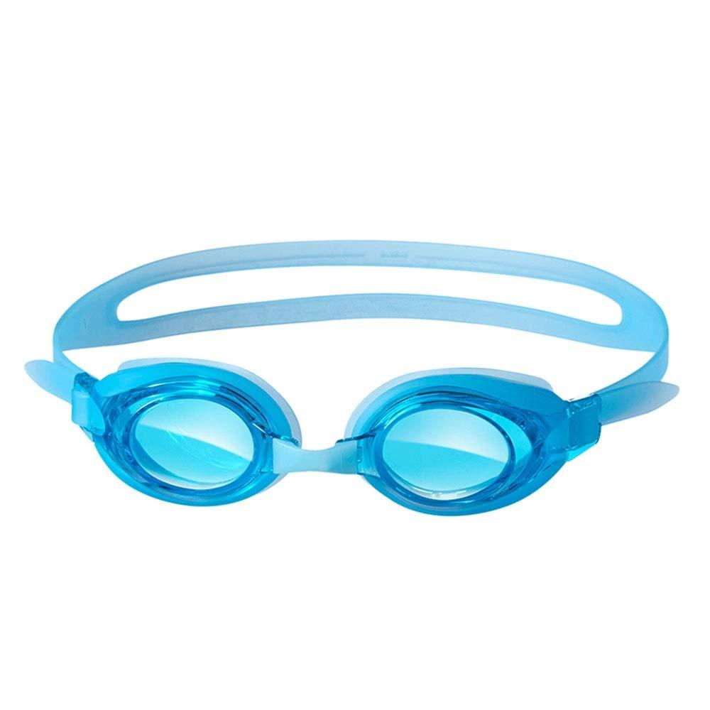 子供用水泳用ゴーグル、防漏用および防曇用水泳用ゴーグル、防水および耐紫外線用ゴーグル、透明レンズゴーグル、男性と女性(4色) (色 : 青)  青 B07Q133GBT