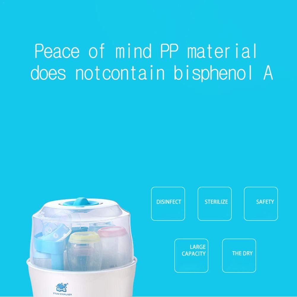 VapoMat Vaporisator Doppelt Elektrischer Dampfsterilisator Flaschen Sterilisator Ein-Knopf-Sterilisator F/ür Babys Anti-Trocken Keine Chemische Dampfsterilisation