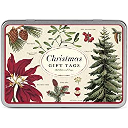 Cavallini Papers & Co., Inc. Christmas Bontanica Glittered Gift Tag Set