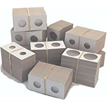 Coin Flip Mega Assortment - 1,000 Cardboard 2x2 Holders - 7 Sizes: 200 Cent, 100 Nickel, 100 Dime, 300 Quarter, 100 Half, 100 Small Dollar, 100 Large Dollar - with heavy resealable bag, instructions