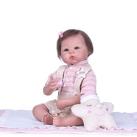 Amazon.com: Icradle - Muñeca de silicona suave para bebé ...