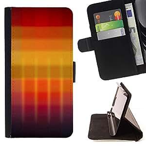 For Apple Apple iPhone 4 / iPhone 4S Case , Gradiente de colores- la tarjeta de Crédito Slots PU Funda de cuero Monedero caso cubierta de piel