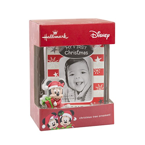 Hallmark Disney Minnie Mouse Baby's First Christmas 2017 Picture Frame Christmas Ornament (Babys First Christmas Hallmark Ornament)