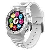 MyKronoz ZeSport - Multisport GPS, Heart Monitoring, Color Screen Smartwatch with sleek design (Silver/White) (Certified Refurbished)