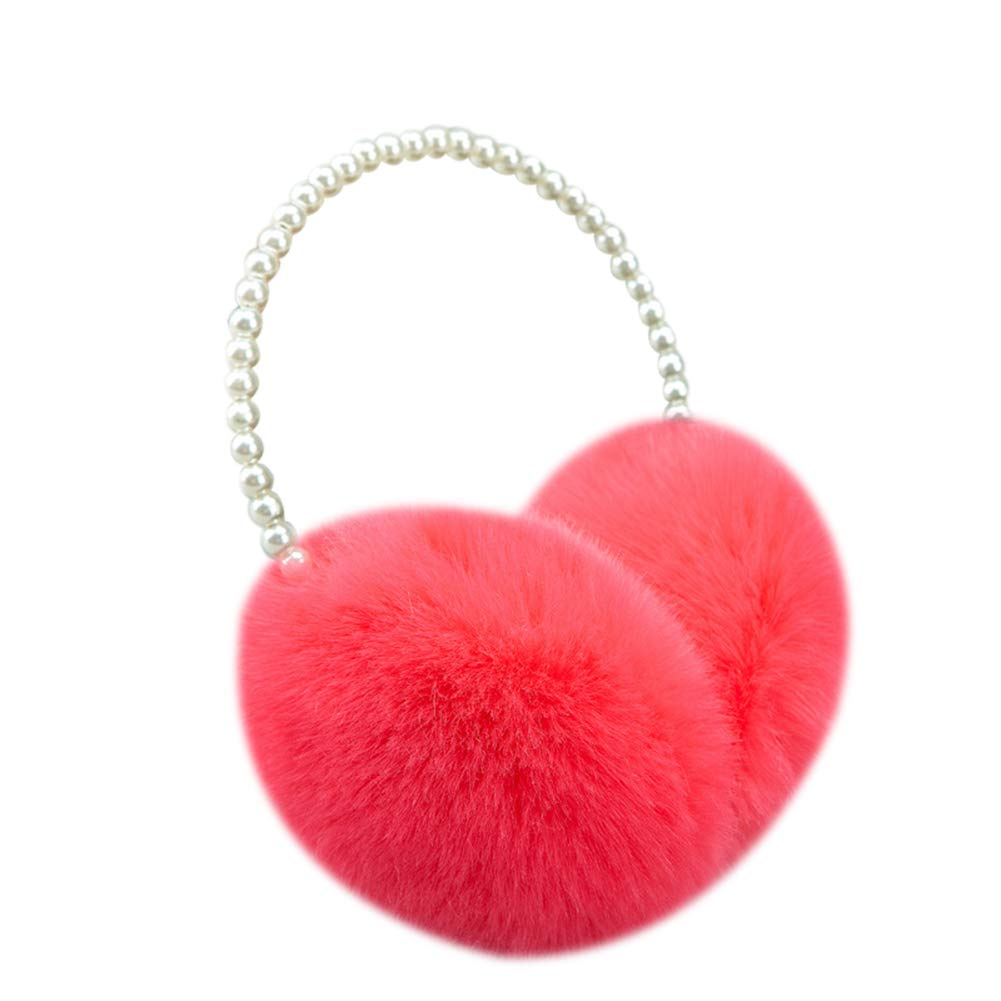 Cdet 1x Perle Ohrenschützer Ohrenwärmer Mit Stirnband Warme Ohrenschützer für Damen, Plüsch Ear Muffs Winterzubehör Outdoor (Grau)