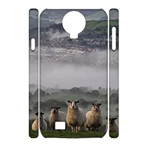 case Of Sheep 3D Bumper Plastic Cell phone Case For Samsung Galaxy S4 i9500