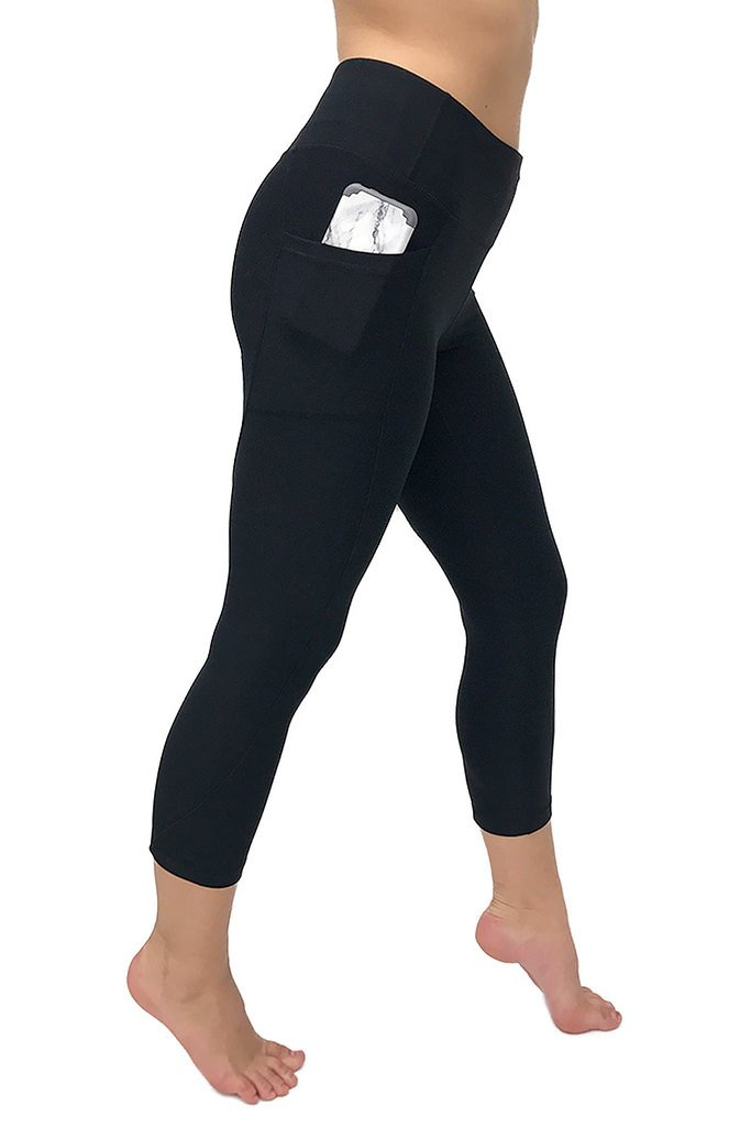 4ff972a53cd9e3 90 Degree By Reflex – Women's High Waist Athletic Leggings with Smartphone  Pocket - Black -