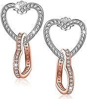 Kami Idea Muttertagsgeschenk Ohrringe Damen Silber Antibakteriell Rosegold Herz Anhänger Ohrstecker Modeschmuck Geschenk...