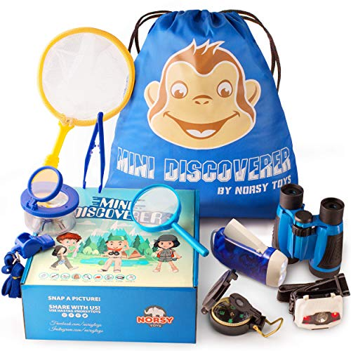 Norsy Toys - Kids Camping Gear - Explorer Kit | Outdoor Exploration Set for Boys & Girls Age 3-12 year old - Nature Exploring for Adventure kid - Perfect Gifts for Kid's Birthday, Christmas & Hiking -