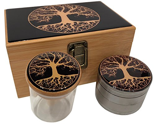 Tree of Life Stash Box Combo - Large 4 Part Grinder 2.5