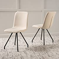 Christopher Knight Home 298937 Bryson Fabric Dining Chair (Set Of 2), Beige
