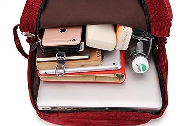 Amazon.com | Women Corduroy Backpack Satchel School Bags Casual Travel Daypacks Rucksack Bookbags for Girls | Kids Backpacks