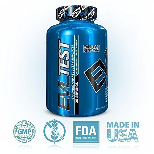 Evlution Nutrition Testosterone Booster EVL Test Training and Recovery Amplifier* Supports Natural Testosterone Levels, Muscular Strength, Stamina and Optimal Sleep, 30 Servings