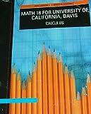 MATH 16-UNIV.OF CA.,DAVIS >CUSTOM<