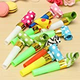 Best Birthday Party Favors - 50 Packs music Blowouts Whistles Toys for Birthday Review