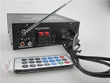 MU 1pcs BJL-253 Hi-Fi estéreo USB Amplificador Digital Car envío AUX MP3
