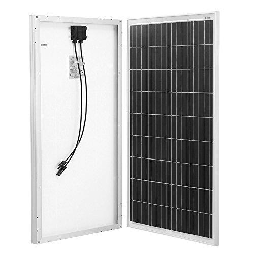 Komaes 100 Watts 12 Volts Polycrystalline Solar (Polycrystalline Solar Panel)