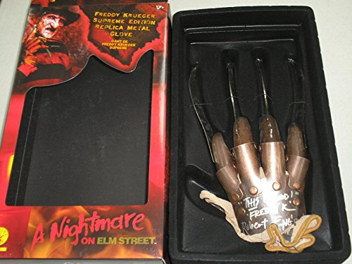 ROBERT ENGLUND Signed Freddy Krueger GLOVE METAL KNIVES This is God BECKETT COA Supreme Edition -