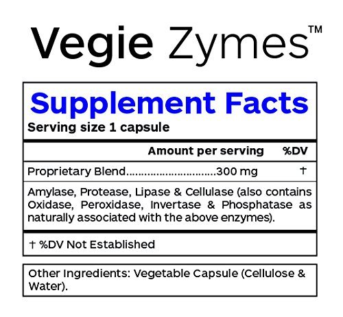 Professional Botanicals - Plant Based Digestive Enzymes to Support Digestion and Metabolic Activity - 60 Vegetarian Capsules