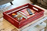 RED RUSTIC SLATTED TRAY