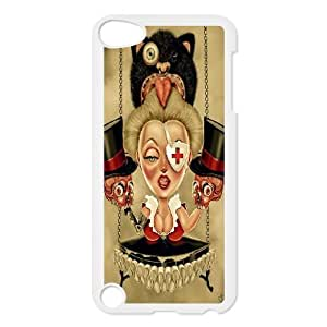 IPHONE Phone Case Of colorful cute skull boy ,Hard Case !Slim and Light weight and won't fade, Scratch proof and Water proof.Compatible with All Carriers Allows access to all buttons and ports. for iPod Touch 5
