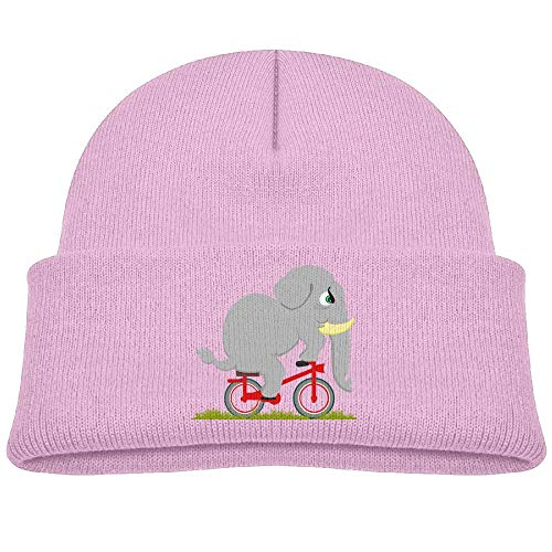 Beanie Caps Grey Elephant Ride Bike Winter Knit Hat Baby ()